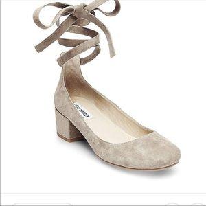 Steve Madden Suede block heel pumps shoes size 7.5